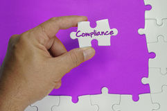 Compliance Text - Business Concept Royalty Free Stock Image