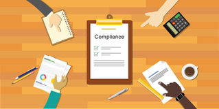 Compliance to regulation process standard industry company Royalty Free Stock Image