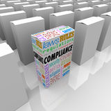 Compliance Unique Box Product Competitive Advantage Safest Secur Royalty Free Stock Photos