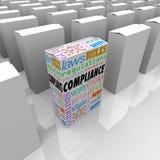 Compliance Unique Box Product Competitive Advantage Safest Secur Royalty Free Stock Photos
