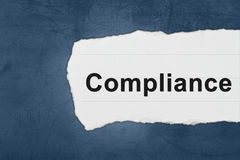 Compliance with white paper tears Stock Photography