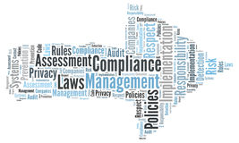 Compliance word cloud Stock Photos