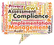 Compliance word cloud Royalty Free Stock Photos