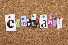 Compliance Word Concept Background Royalty Free Stock Photography