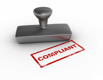 Compliant Rubber Stamp Royalty Free Stock Photo