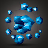 Complicated abstract colorful 3D shapes, vector digital objects. Stock Photos