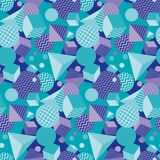 Complicated and chaotic geometric seamless pattern. Concept 3d geometry repeatable motif for background, wrapping paper, fabric, surface design. stock vector Stock Photos