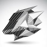 Complicated contrast eps8 figure constructed from triangles with Royalty Free Stock Photo