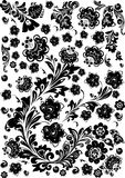 Complicated flower black decoration Stock Photos