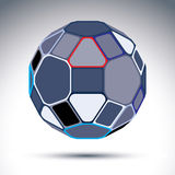 Complicated gray urban spherical object created from geometric f Royalty Free Stock Photo