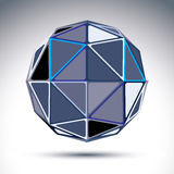 Complicated gray urban spherical object, 3d fractal mirror ball Royalty Free Stock Photos