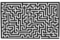 Complicated labyrinth Stock Image
