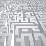 Complicated labyrinth corridors Royalty Free Stock Photos