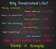 Complicated life Stock Images