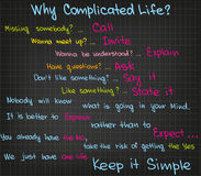 Complicated life Royalty Free Stock Image
