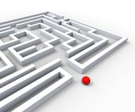 Complicated Maze Shows Complexity And Challenges. Complicated Maze Shows Complexity Obstacles And Challenges stock illustration