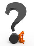 Complicated question. For orange mannequin Stock Photography