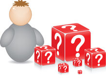 Complicated question Stock Image
