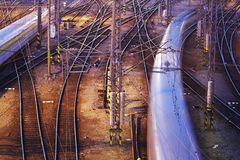 Complicated rail network Royalty Free Stock Image