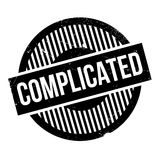 Complicated rubber stamp Royalty Free Stock Images