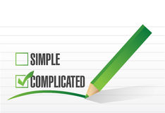 Complicated selection illustration design Royalty Free Stock Photos