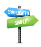 Complicated, simple road sign illustrations design Royalty Free Stock Photography