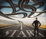 Complicated success road stock photography