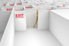 Complicated way out Royalty Free Stock Photos