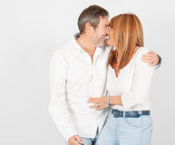 Complicity and joy after turning 50 royalty free stock photography