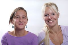 Mother and daughter. Complicity between mother and daughter royalty free stock image