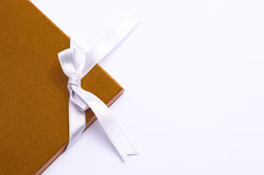 Compliment card. Gold compliment card on white background stock image