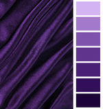Complimentary color palette chart Stock Image