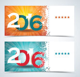 Complimentary ticket to a Christmas and New Year party. Complimentary ticket to a Christmas and New Year party, various vector design Stock Photo