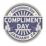 Complimentendag, 24 Januari vector illustratie