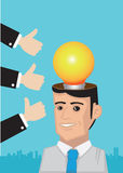 Compliments for Bright Idea Conceptual Vector Illustration Royalty Free Stock Image