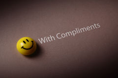 With compliments Stock Photography