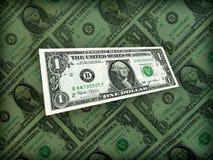 Complètement du dollar américain d'argent sur le noir Photos libres de droits