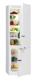 Complètement du réfrigérateur de nourriture fraîche. Images libres de droits
