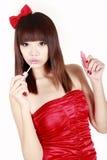 Compo da rapariga Imagem de Stock Royalty Free
