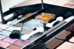 Compo e escovas Fotos de Stock