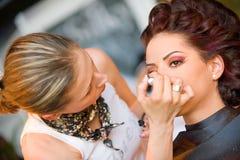 Compo a sessão no cabelo & compo Fest Imagens de Stock Royalty Free