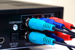 Component cable connection Stock Images
