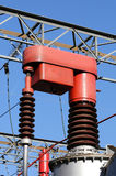 Component called changing ratio of a voltage transformer in a po Royalty Free Stock Photo