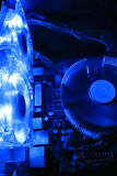 Component operating blue light cooling Royalty Free Stock Photo