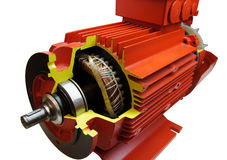 Component parts of electric motor Royalty Free Stock Photography