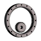Gear wheel and pinion. 3D effect vector royalty free stock images