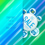Component parts. Sale banner. Component parts for PC and laptop. Straight background. Vector Royalty Free Stock Photo
