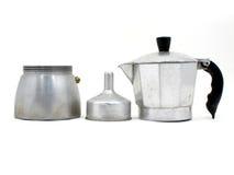 Component van Italiaans koffiezetapparaat stock foto