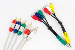 Component video and audio cable Stock Images