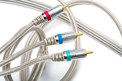 Component video cable Royalty Free Stock Image